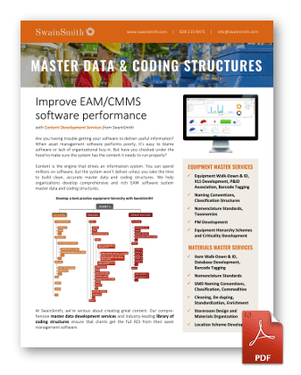 Master Data and Coding Structures